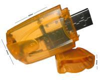 رم ریدر 4 کاره طرح جیبی نارنجی
